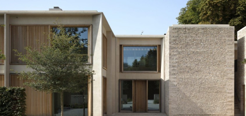 A stone and concrete manor