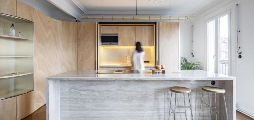 Wood Ribbon Apartment – Paris