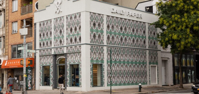 Daily Paper store clad in recycled cans