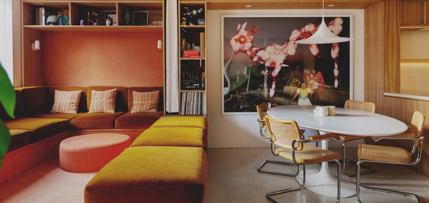 A  textural 1970's California-inspired home